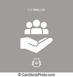 Community assistance - Minimal vector icon