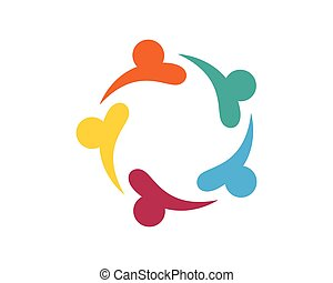 Community Care Logo Vector Concept Engagement, Togetherness