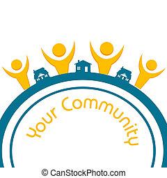 community - illustration of your community on white...