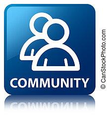 Community (group icon) blue square button