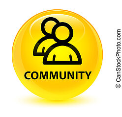Community (group icon) glassy yellow round button