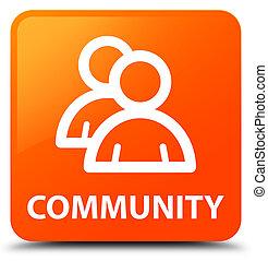 Community (group icon) orange square button