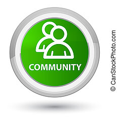 Community (group icon) prime green round button