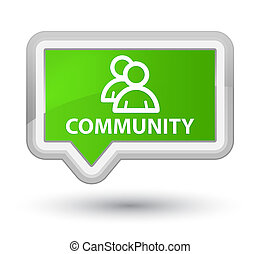 Community (group icon) prime soft green banner button