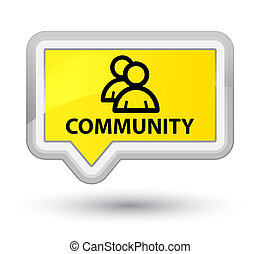 Community (group icon) prime yellow banner button