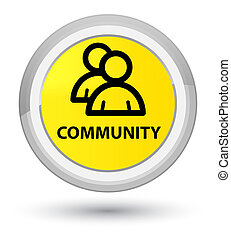 Community (group icon) prime yellow round button
