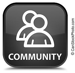 Community (group icon) special black square button