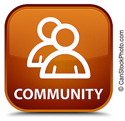 Community (group icon) special brown square button