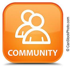 Community (group icon) special orange square button