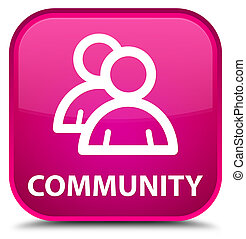 Community (group icon) special pink square button
