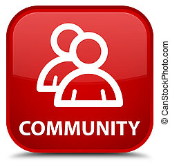 Community (group icon) special red square button