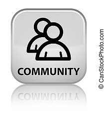 Community (group icon) special white square button