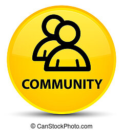 Community (group icon) special yellow round button