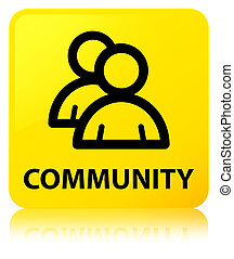 Community (group icon) yellow square button