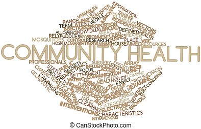 Community health - Abstract word cloud for Community health...