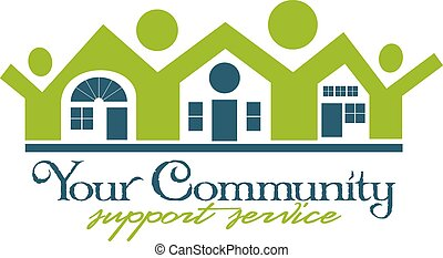 Community House and People Icon in format