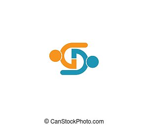 Community logo template illustration