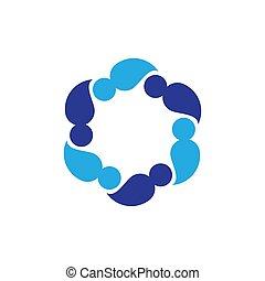Community logo vector icon
