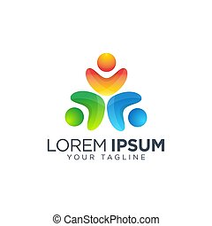 Community people logo design template vector isolated