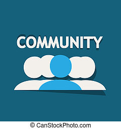 Community people vector background