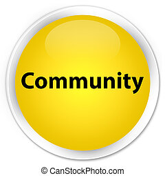 Community premium yellow round button