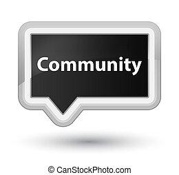 Community prime black banner button