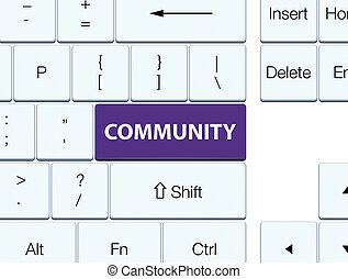 Community purple keyboard button