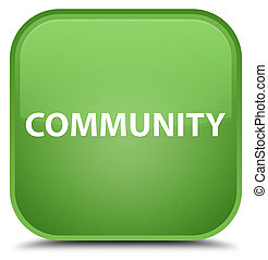 Community special soft green square button