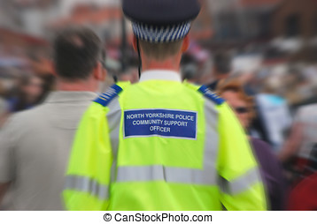 Community support officer - Male community support officer...