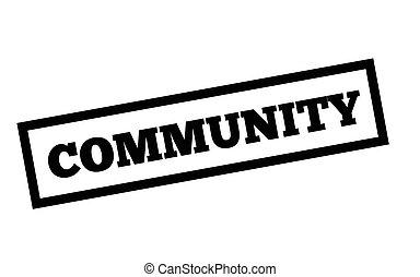 Community typographic stamp