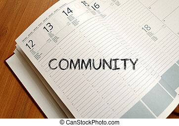 Community write on notebook