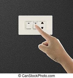 commutateur, désactivation, lumière