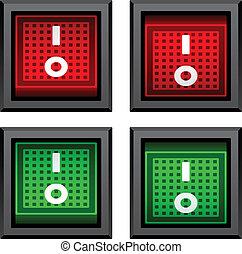 commutateurs, cabillot, vecteur, carrée, puissance