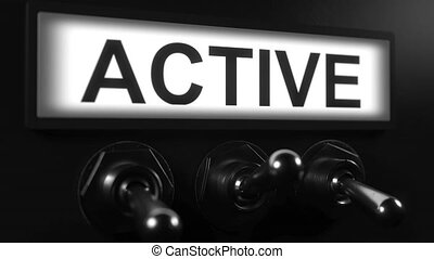 commutazione, attivazione, tasto bistabile