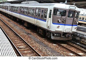 Commuter train in Japan