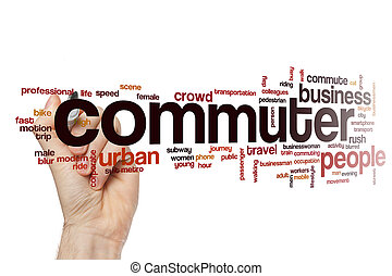 Commuter word cloud concept