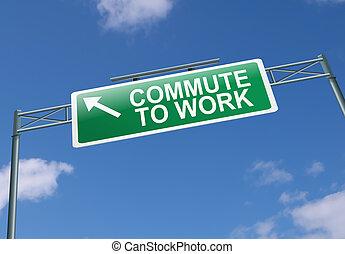 Commuting concept.