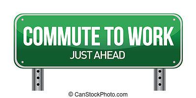 commuting concept illustration design over a white background