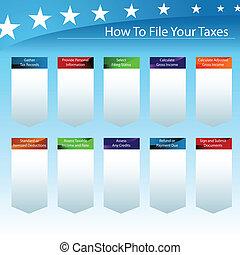 como, arquivo, seu, impostos