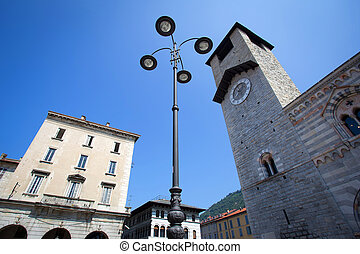 Como City in Lombardy, Italy