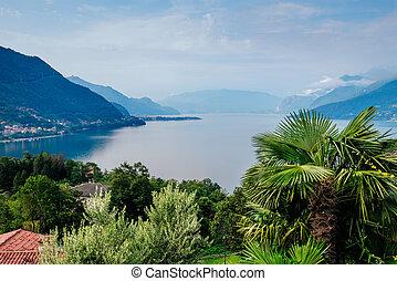 Como lake landscape.