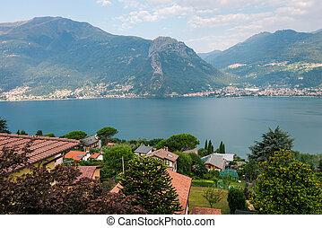 Laghetto di Piona in Italy, Alps