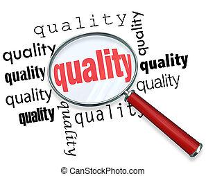 como, para, achar, qualidade, -, lupa