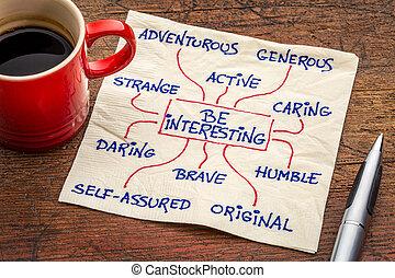 como, para, ser, interessante, -, positivo, personagem,...