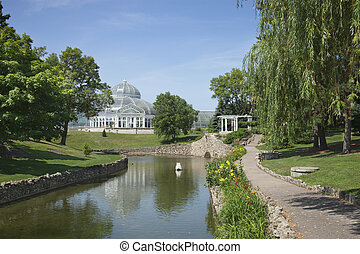 Como Park conservatory on a bright summer afternoon - The ...