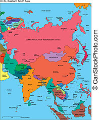 comonwealth, 独立した, ロシア, 名前, アジア, 州
