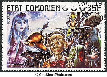COMORES - 1976: shows Pinocchio, series Fairy Tales