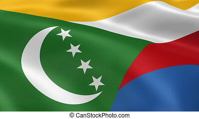Comorian flag in the wind. Part of a series.