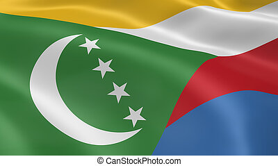 Comorian flag in the wind