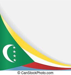 Comoros flag background. Vector illustration. - Comoros flag...